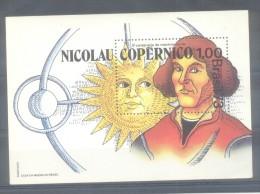 BRASIL BLOC YVERT NR. 32 MNH  QUINTO CENTENARIO DEL NACIMIENTO DE NICOLAS COPERNICO TBE NICOLAU COPERNICO ASTRONOMIA - Astronomy