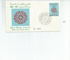FDC SPECIAL COVER  DEUX SIECLES D`AMITIE AVEC LES ETATS-UNIS AÑO 1987   OHL - Morocco (1956-...)