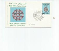 FDC SPECIAL COVER  DEUX SIECLES D`AMITIE AVEC LES ETATS-UNIS AÑO 1987   OHL - Marokko (1956-...)