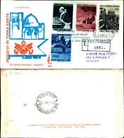 820)F.D.C. VATICANO,PAOLO VI IN TERRA SANTA4-01-64.4VALORI15+25+70+160£ - FDC