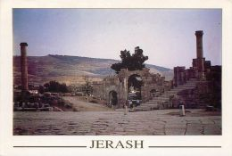 Jerash, Jordan Postcard Used Posted To UK 2005 Gb Stamp - Jordan