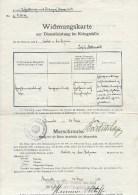 DOC023 Widmungskarte Zur Dienstleistung Im Kriegsfalle, 1912 - Historische Dokumente