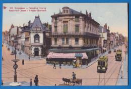 CPA 87 - LIMOGES - CARREFOUR TOURNY (voiture à âne, Trams) - HAUTE VIENNE - Limoges