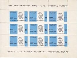 US  SPACE  SHEET ANNIV.   FIRST  ORBITAL  FLIGHT - 3b. 1961-... Unused