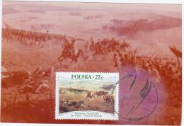 "Poland 1985 Jan Styka, Wojciech Kossak Painter ""Panorama Raclawicka"" Canceled In Wroclaw - Cartes Maximum"