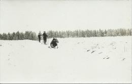 Elsenborn - Skieurs Perdus Dans L'immensité Blanche Des Fagnes, Neige - Carte Photo  ( Voir Verso ) - Bütgenbach