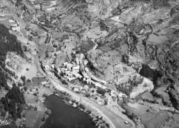 CPSM LE LAUZET. Vue Générale Aérienne. Le Village, Le Lac, La Vallée De L'ubaye. 1955 - France