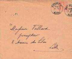 MOUCHON 15C SUR ENV ROUBAIX DAGUIN 2/JUIL/01 POUR LILLE - 1877-1920: Semi Modern Period