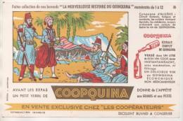 PUBLICITE BUVARD COOPQUINA - LA MERVEILLEUSE HISTOIRE DU QUINQUINA, CAMPAGNE D ALGERIE - VOIR LE SCANNER - Advertising