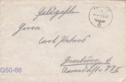Feldpost WW2: From Norway: 2. Schwadron Aufklarungs-Abteilung 269 FP 33550 Posted 2.4.1943 - Cover Only  (G50-66) - Militaria