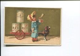 CHAM SUISSE CHROMO OR LAIT CONCENTRE ATTELAGE CHIEN LAITIERE  CORNE - Kaufmanns- Und Zigarettenbilder