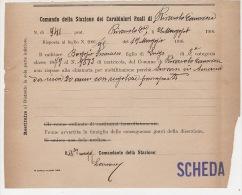 ^ RIVAROLO CANAVESE TORINO SCHEDA DISERZIONE MILITARE CARABINIERI FASCISMO DOCUMENTO 37 - Documentos Históricos