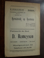 KERMISVOLK Op KERSTMIS 1956 / Opvoering - Spel In 3 Bedrijven ( St. Michielskring Antwerpen ) ( Details Zie Photo ) ! - Theater