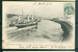 """N°63  -  Boulogne Sur Mer - Vue Générale , Entrée Du Steamer  """" La Duchesse D'York """"  -  LFP67 - Ferries"""