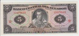 Ecuador  5 Sucres 1970 Pick 100d UNC - Ostkaribik