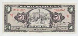 Ecuador  50 Sucres 1980 Pick 116e UNC - Ecuador