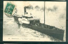N°52   -  Trouville  - LA TOUQUES EN PLEINE MER   .-  Lfp87 - Ferries