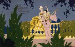 Pierrot Et Colombine (Bords Dentelés)(Coin Inf Droit Légèrement Taché) - Nieuwjaar