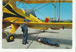 Cartolina Con Aereo E Due Bambini Vestiti Da Aviatori - 1946-....: Era Moderna
