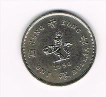 ° HONG KONG  1 DOLLAR  1990 - Hong Kong