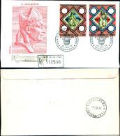 841)F.D.C.VATICANO DIOCESI LATINA DI PRAGA.S.ADALBERTO25SETT.7 3 -4VALORI - FDC