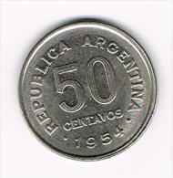 ° ARGENTINA  50  CENTAVOS  1954 - Argentine