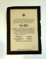 DEATH NOTICES Nécrologie Hauptwohnung D. Schutzpolizei HANS MELLER 1944 Wien Head Police (Austria) WW2 Deutsche Reich 39 - Todesanzeige