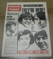 BEATLES, ESPECIAL, REVISTA MELODY MAKER, JULY 1, 1967, 16 PAGINAS, MIDE 65 X 34 CMS. EXCEPCIONAL. 100% ORIGINAL, VER TOD - Objetos Derivados