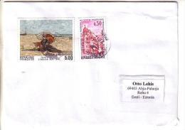 GOOD FRANCE Postal Cover To ESTONIA 2014 - Good Stamped: Colmar ; Art - Frankrijk