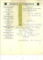 12 - Aveyron - RODEZ - Facture POMPES FUNEBRES – 1940 - REF 20 - France