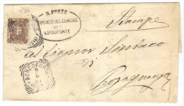 298/500 - REGNO 2/6/1897 , 1 Cent Isolato Da Borgoforte Per Pecognaga - 1878-00 Umberto I