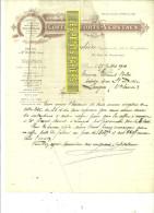 93 - Seine-st-denis - ST-OUEN - Facture FROUDIERE - Coffres-forts VERSTAEN – 1910 - REF 20 - France