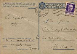 FRANCHIGIA WWII POSTA MILITARE 3700 1943 MARSA PLAGE TUNISIA AVIAZIONE - Militärpost (MP)