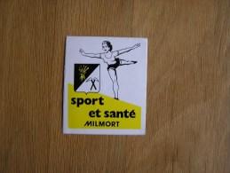 SPORT ET SANTE MILMORT  Gymnastique Souvenirs Autocollant Sticker Autres Collections - Stickers