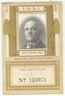 RARA TESSERA CONFEDERAZIONE NAZIONALE FASCISTA DEGLI AGRICOLTORI CON FOTO 1931 - Documenti Storici