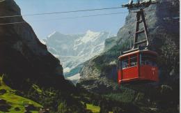 SUISSE - BERNE - GRINDELWALD PFINGSTEGG - Téléphérique - Non Circulée - 2 Scans - - BE Berne