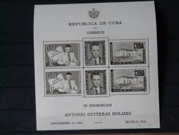 CUBA - 1951 Bloc N°7  * (TB) - Blocks & Kleinbögen