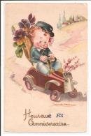Illustrateur - MAUZAN - Heureuse Fête, Voiture à Pédale - Mauzan, L.A.