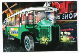 CPM - ILLUSTRATEUR - Pierre GAUTHIE - AUTOMOBILE - BUS PARISIEN TN 6 RENAULT 1936 - (Pub BANANIA Bus RATP N°67 PIGALLE) - Illustrators & Photographers