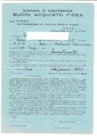 061/P4 Domanda Concessione - BUONI ACQUISTO FIDES - Roma 1913 - Azioni & Titoli