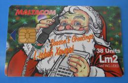 CHRISTMAS ( Malta ) Xmas Joyeux Noël Weihnachten Navidad Natal Natale Kerstfeest Santa Claus Pere Noel  SONG BIRD Oiseau - Malta