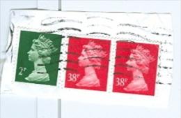 Grossbritannien Königin Elisabeth II. 2 P. + 38 P. Paar Briefstück - 1952-.... (Elisabeth II.)