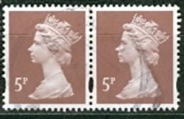 Grossbritannien Königin Elisabeth II. 5 P.Paar Gest. - 1952-.... (Elisabeth II.)