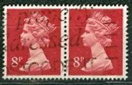 Grossbritannien Königin Elisabeth II. 8 P.Paar Gest. - 1952-.... (Elisabeth II.)
