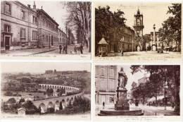 AIX EN PROVENCE - 4 CPA -  Ecole Arts & Métiers, Viaduc, Hotel De Ville, Roi René ..(68773) - Aix En Provence