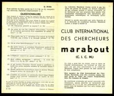 Supplément - Questionnaire  C.I.C.M. N° 29 Du MJ N° 84 . - Marabout Junior