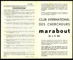 Supplément - Questionnaire  C.I.C.M. N° 32 Du MJ N° 87 . - Marabout Junior