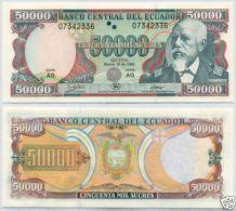 Ecuador  50000 Sucres 1999 Pick 130c UNC - Ecuador