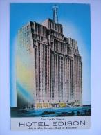 NY New York New York City Edison Hotel Postcard - Unclassified