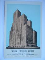 NY New York New York City Henry Hudson Hotel Postcard #1 - Unclassified